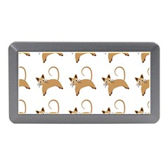 Cute Cats Seamless Wallpaper Background Pattern Memory Card Reader (mini)