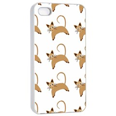 Cute Cats Seamless Wallpaper Background Pattern Apple iPhone 4/4s Seamless Case (White)