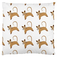 Cute Cats Seamless Wallpaper Background Pattern Large Cushion Case (One Side)