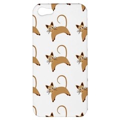 Cute Cats Seamless Wallpaper Background Pattern Apple iPhone 5 Hardshell Case
