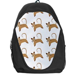 Cute Cats Seamless Wallpaper Background Pattern Backpack Bag