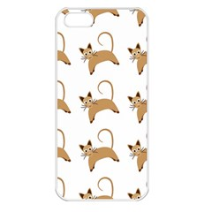 Cute Cats Seamless Wallpaper Background Pattern Apple iPhone 5 Seamless Case (White)