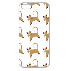 Cute Cats Seamless Wallpaper Background Pattern Apple Seamless iPhone 5 Case (Clear)
