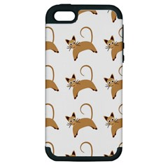 Cute Cats Seamless Wallpaper Background Pattern Apple iPhone 5 Hardshell Case (PC+Silicone)