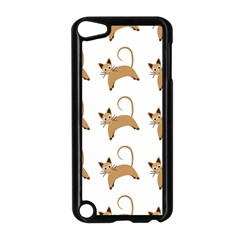 Cute Cats Seamless Wallpaper Background Pattern Apple iPod Touch 5 Case (Black)