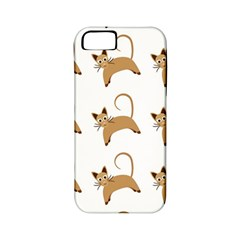 Cute Cats Seamless Wallpaper Background Pattern Apple Iphone 5 Classic Hardshell Case (pc+silicone)