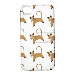 Cute Cats Seamless Wallpaper Background Pattern Apple iPhone 4/4S Hardshell Case with Stand
