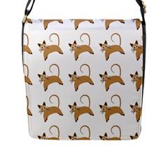 Cute Cats Seamless Wallpaper Background Pattern Flap Messenger Bag (L)