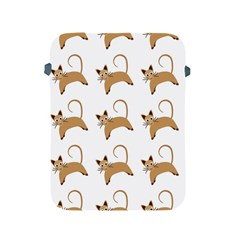Cute Cats Seamless Wallpaper Background Pattern Apple iPad 2/3/4 Protective Soft Cases