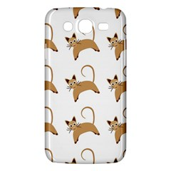Cute Cats Seamless Wallpaper Background Pattern Samsung Galaxy Mega 5.8 I9152 Hardshell Case
