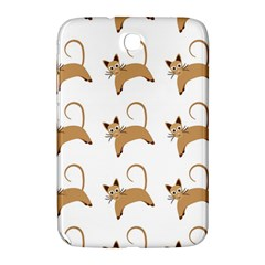 Cute Cats Seamless Wallpaper Background Pattern Samsung Galaxy Note 8.0 N5100 Hardshell Case
