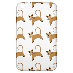Cute Cats Seamless Wallpaper Background Pattern Samsung Galaxy Tab 3 (8 ) T3100 Hardshell Case