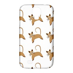 Cute Cats Seamless Wallpaper Background Pattern Samsung Galaxy S4 Classic Hardshell Case (PC+Silicone)