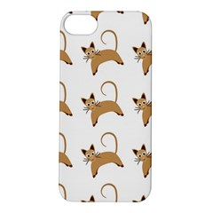 Cute Cats Seamless Wallpaper Background Pattern Apple iPhone 5S/ SE Hardshell Case