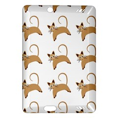 Cute Cats Seamless Wallpaper Background Pattern Amazon Kindle Fire HD (2013) Hardshell Case