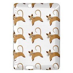 Cute Cats Seamless Wallpaper Background Pattern Kindle Fire HDX Hardshell Case