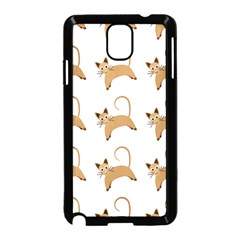 Cute Cats Seamless Wallpaper Background Pattern Samsung Galaxy Note 3 Neo Hardshell Case (Black)