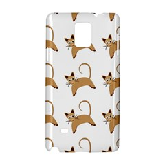 Cute Cats Seamless Wallpaper Background Pattern Samsung Galaxy Note 4 Hardshell Case