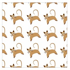Cute Cats Seamless Wallpaper Background Pattern Large Satin Scarf (Square)