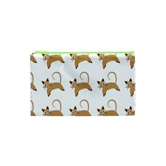 Cute Cats Seamless Wallpaper Background Pattern Cosmetic Bag (XS)