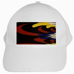 Peacock Abstract Fractal White Cap