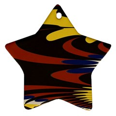 Peacock Abstract Fractal Ornament (Star)
