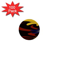 Peacock Abstract Fractal 1  Mini Buttons (100 pack)