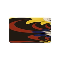 Peacock Abstract Fractal Magnet (name Card)