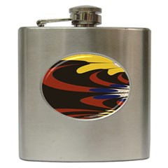 Peacock Abstract Fractal Hip Flask (6 Oz)