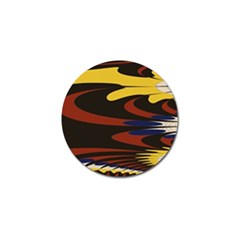 Peacock Abstract Fractal Golf Ball Marker (10 pack)