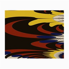 Peacock Abstract Fractal Small Glasses Cloth