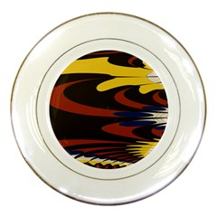 Peacock Abstract Fractal Porcelain Plates