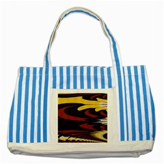 Peacock Abstract Fractal Striped Blue Tote Bag