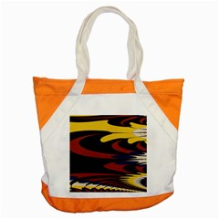 Peacock Abstract Fractal Accent Tote Bag