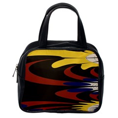 Peacock Abstract Fractal Classic Handbags (one Side)