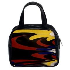 Peacock Abstract Fractal Classic Handbags (2 Sides)