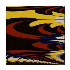 Peacock Abstract Fractal Face Towel
