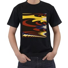 Peacock Abstract Fractal Men s T-Shirt (Black)
