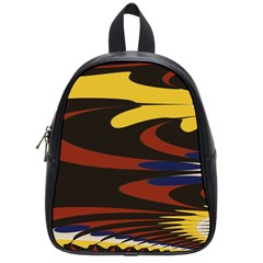 Peacock Abstract Fractal School Bags (Small)
