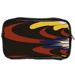Peacock Abstract Fractal Toiletries Bags 2 Side
