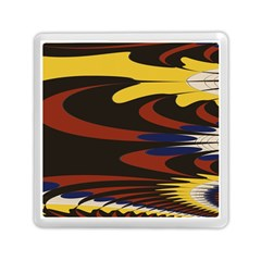 Peacock Abstract Fractal Memory Card Reader (square)