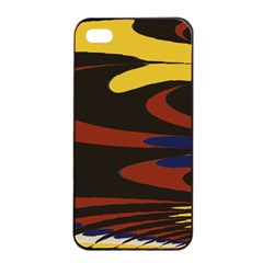 Peacock Abstract Fractal Apple iPhone 4/4s Seamless Case (Black)