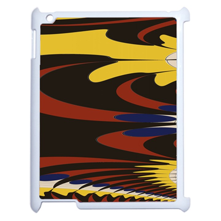 Peacock Abstract Fractal Apple iPad 2 Case (White)