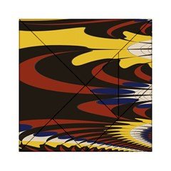 Peacock Abstract Fractal Acrylic Tangram Puzzle (6  X 6 )