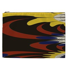 Peacock Abstract Fractal Cosmetic Bag (XXL)