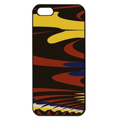 Peacock Abstract Fractal Apple iPhone 5 Seamless Case (Black)