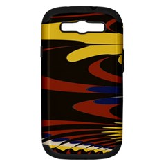 Peacock Abstract Fractal Samsung Galaxy S III Hardshell Case (PC+Silicone)