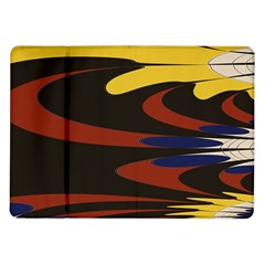 Peacock Abstract Fractal Samsung Galaxy Tab 10.1  P7500 Flip Case