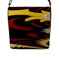 Peacock Abstract Fractal Flap Messenger Bag (l)
