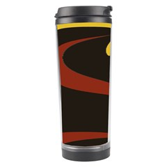 Peacock Abstract Fractal Travel Tumbler